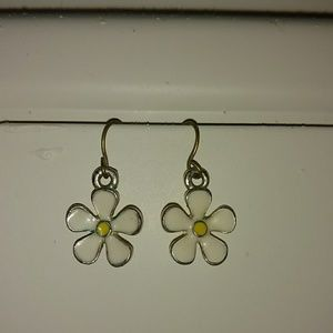 💜 VINTAGE ENAMELED FLORAL EARRINGS